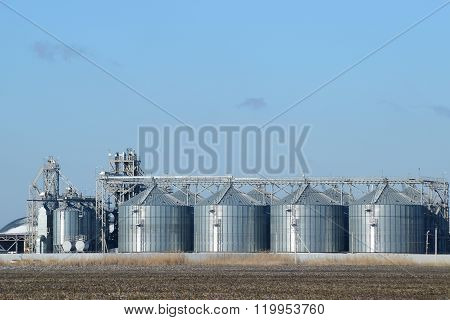 Plant For The Drying And Storage Of Grain