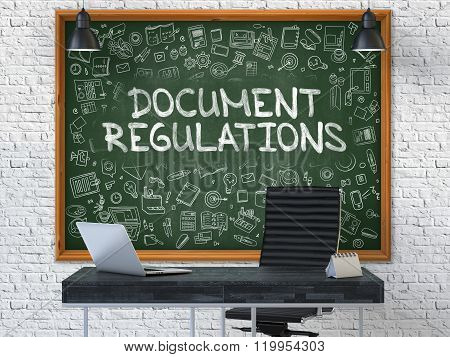 Chalkboard on the Document Regulations Concept.