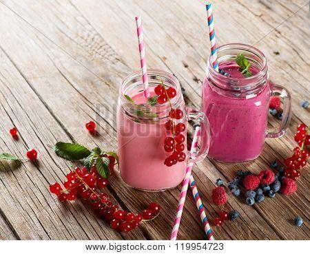 Smoothies Of Various Berries