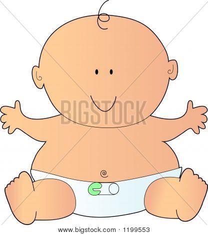 Bebé caucásico