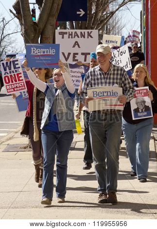 Bernie Sanders Marching Signs