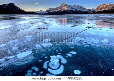 Abraham Lake Winter Ice formations bubbles design ** Note: Soft Focus at 100%, best at smaller sizes