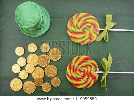 St Patricks Day Rainbow Lollipops