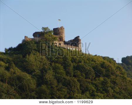 German Castle On The Mosel River