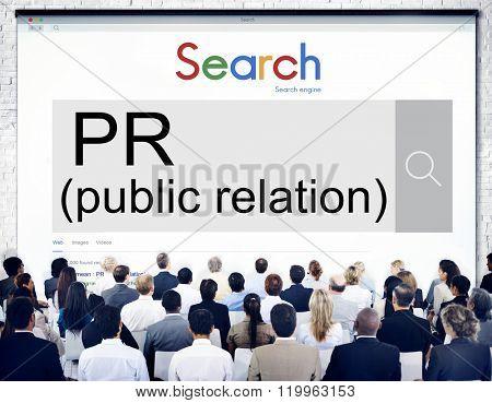 Public Relation Communication Marketing Message Concept