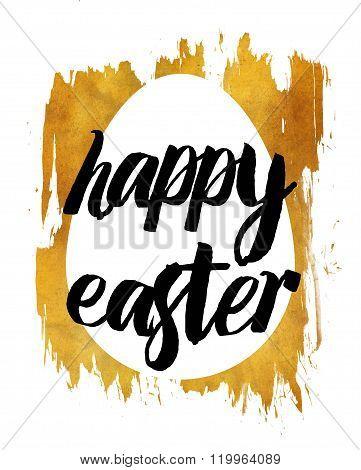 Golden Happy Easter