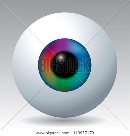 vector iris of the eye in rainbow colors