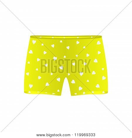 Men underwear with white hearts