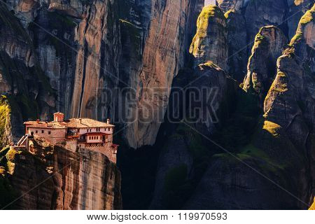 Meteora monasteries in Greece. Instagram filter.