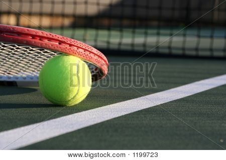 Tennis Ball & Racquet