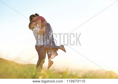 Man Kiss Girl In Air
