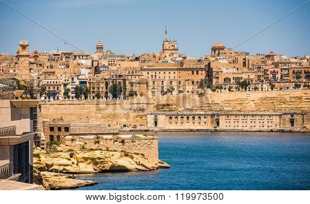 view of Valletta from sea