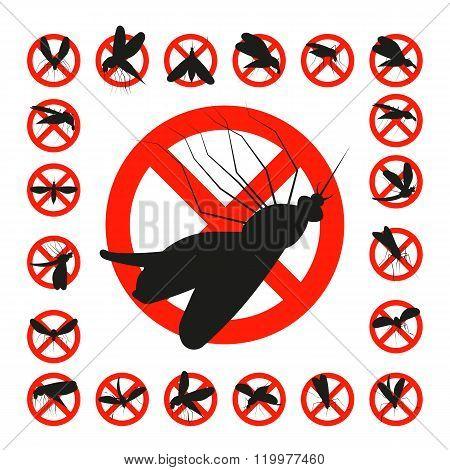 Set mosquito danger zone icon