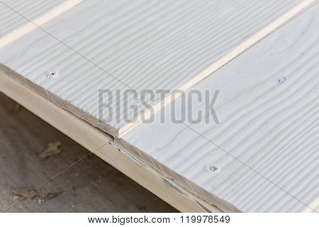 White Wood Plank In Construction Work