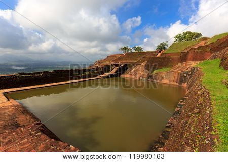 King's swimmig pool in Sigiriya palace. Sri Lanka