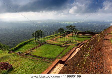 Famous Sigiriya Rock Fortress, Sri Lanka
