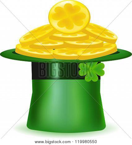 Gold, hat, coins, symbol,