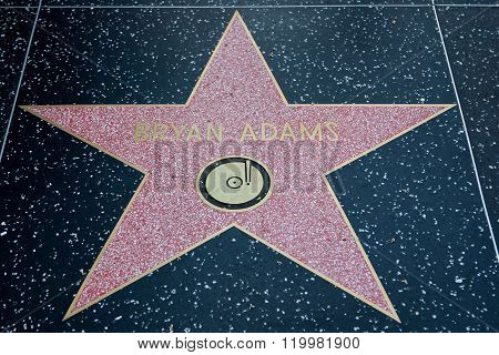 Bryan Adams Hollywood Star