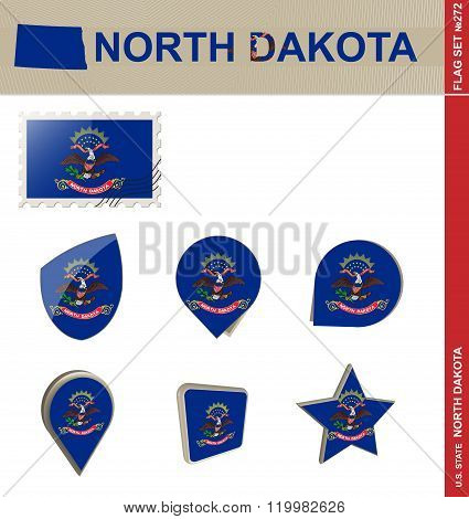 North Dakota Flag Set, Flag Set #272