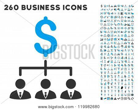 Banker Links Icon with Flat Vector Set