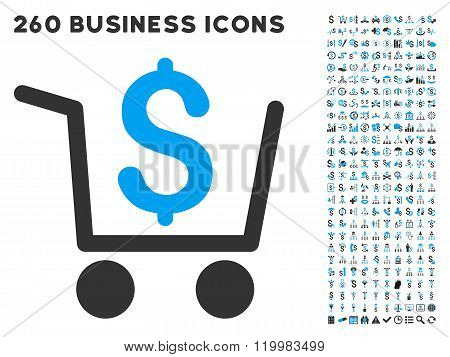 Checkout Icon with Flat Vector Set