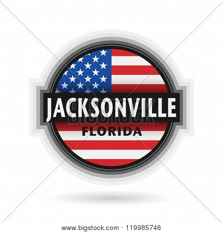 Emblem Or Label With Name Of Jacksonville, Florida