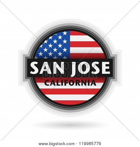 Emblem Or Label With Name Of San Jose, California