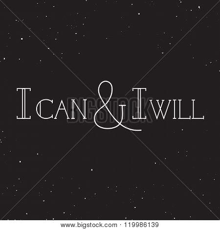 Inspirational retro lettering