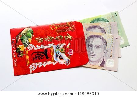 Red envelop and Lucky money Singapore dollar