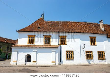Historical Centre Of Medias, Medieval City In Transylvania, Romania