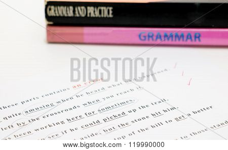 English Grammar Sheet