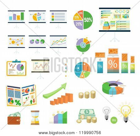 Data Tools Finance Diagramm and Graphic