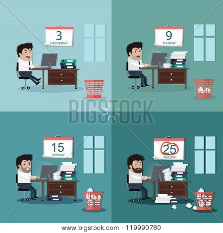 Deadline Design Concept Flat Interior Man