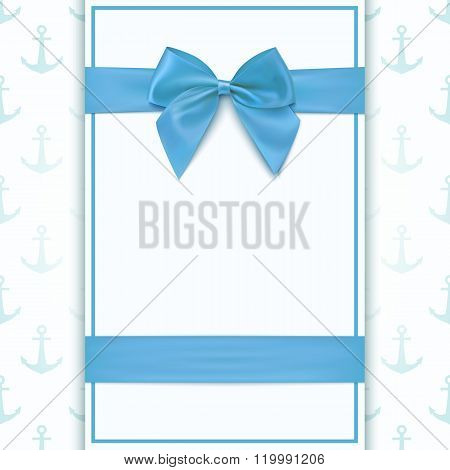 Blank greeting card template.
