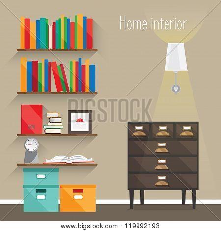 Flat Interior Illustrations