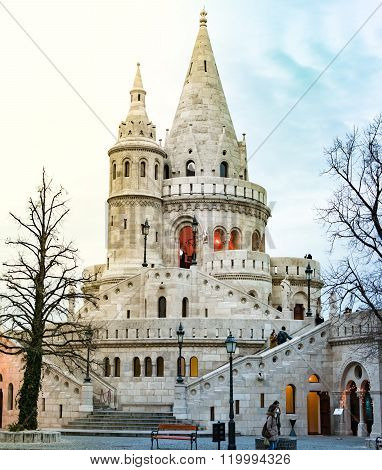 View On Fisherman Bastion. Budapest, Hungary, Europe.
