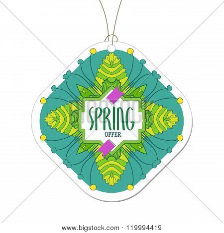 Spring offer colored tag