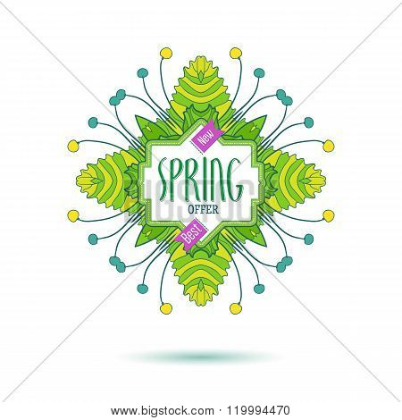 New spring offer colored label