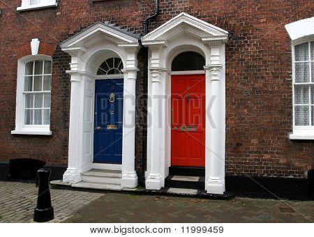 Georgische Türen in Dorset, England