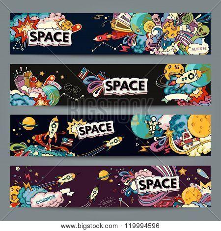 Space cartoon style