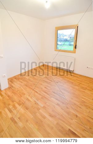 Renovating Old Apartment And Parquet Wooden Hard Floor.