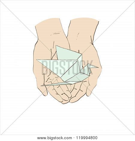 Two Hands And Origami