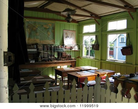 Victorian School Room, Settlers' Village, New Zealand