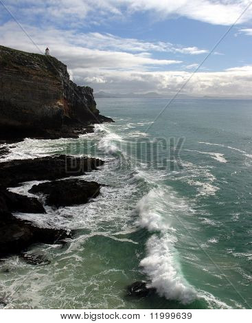 Dunedin Point and Lighthouse, New Zealand