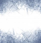 stock photo of ice crystal  - Closeup of ice crystals with very shallow DOF - JPG
