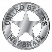 Постер, плакат: U S Marshal Badge