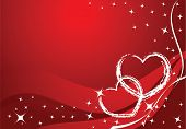 stock photo of valentine heart  - vector valentine card  - JPG