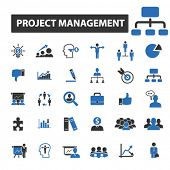 Постер, плакат: project management icons project management logo project management vector project management fla