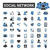 Постер, плакат: social network icons social network logo social network vector social network flat illustration c