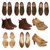 Постер, плакат: Vector illustration of classic shoe style